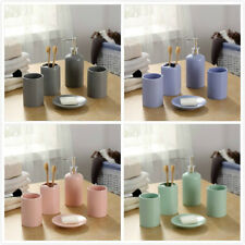 5Pcs Ceramic Bathroom Accessories Set / Soap Dish Cup Toothbrush Holder /Tumbler