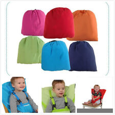 Seat Baby Child Portable High Chair Seat Cover belt +shoulder straps Multi-Color