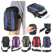 Small Outdoor Sport Phone Case Armband Oxford Leisure Zipper Shoulder Belt Bag