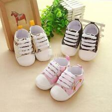 Toddler Baby Boys Girls Kids Soft Sole Shoes Laces No-slip Sneaker Newborn 0-18M