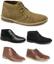 Desert Boots Leather Mens Classic Casual Chukka Boots Ankle Shoes