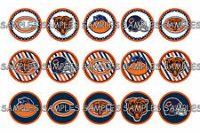 "NFL Chicago Bears #2 PRE CUTS or DIGITAL SHEET 1"" Circle Bottle Caps"