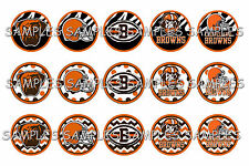 "NFL Cleveland Browns PRE CUTS or DIGITAL SHEET 1"" Circle Bottle Caps"