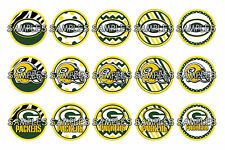 "NFL Green Bay Packers PRE CUTS or DIGITAL SHEET 1"" Circle Bottle Caps"