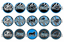 "NFL Carolina Panthers Zebra PRE CUTS or DIGITAL SHEET 1"" Circle Bottle Caps"