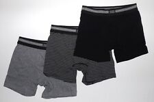 Jockey No-Fly Stretch Boxer Brief 3 Pack (grey heather/ black strip) Reg  $29.50