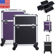 Professional Makeup Trolley Vanity Cosmetic Beauty Case Storage Suitcase Box Bag