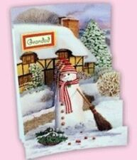 Handmade CHRISTMAS SNOWMAN Card or Topper. THATCHED COTTAGE Choice of sizes.