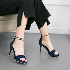 Sexy Women Platform Pointed High Heel Shoes Stiletto Heel Pump Buckle Sandals