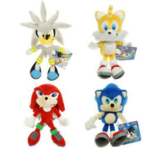 "New Silver Sonic The Hedgehog Figure Stuffed Plush Soft Doll Toy 23cm 9"" Gift"