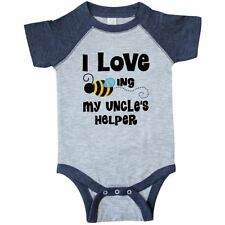 Inktastic Uncle Helper Little Bee Nephew Infant Creeper Niece I Love My Uncles