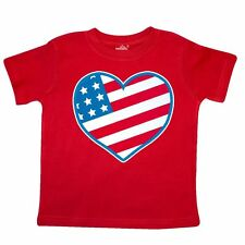 Inktastic American Heart Patriotic Toddler T-Shirt Usa America United States Red