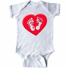 Inktastic Baby Feet (red) Infant Creeper Red White Heart Valentine Cute Gift