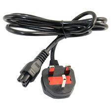 UK/EU 1.5M C5 to Cloverleaf 3 Prong Plug AC Power Cable Lead Cord Charger For PC