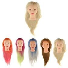 Practice Training Head Synthetic Long Hair Model Hairdressing Mannequin Doll