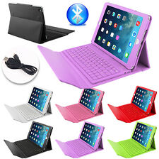 Cover Wireless Leather Case For Apple iPad Air 2 Bluetooth Keyboard Folding