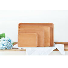 Solid Wooden Tray Food Tray Salad Sushi Bread Dishes Serving Platter Beech