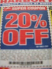 Harbor Freight 20% off discount 3 pages of  coupons  Lowes Home Depot SALE