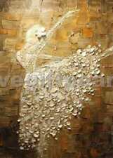Pure Hand-painted Abstract Oil Painting Ballerina Dance /NO Frame