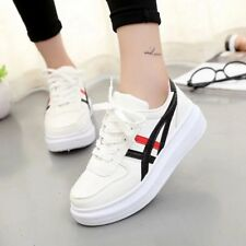 Women's Fashion Leather Casual Lace Up Sneakers Trainer Superstar Shoes