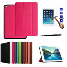 Folding Slim Leather Case Cover Stand + Screen Protector For iPad  mini 4 7.9