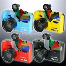 HOLGA K200NM 35mm Film 135 Format Camera & Viewer & Fisheye Lens & Flash LOMO