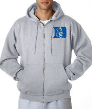 Duke Blue Devils Logo Champion Zip Up Hoodie Mens Hooded Sweatshirt New Grey