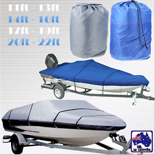 Fish Ski Boat Cover Waterproof Trailerable T-Top 11ft 14ft 20ft V-Hull VCOV626