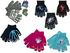 1 - 3 PACK Kids Boys Girls Magic Football Skull Camo Heart GRIP Winter Gloves