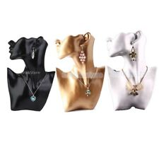 Resin Female Mannequin Necklace Earring Bust Stand Jewelry Holder Display Rack
