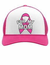 Breast Cancer Awareness - I Wear Pink Ribbon For My Mom Trucker Hat Mesh Cap