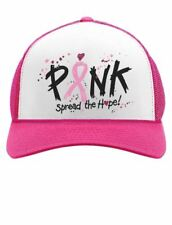 Pink Breast Cancer Awareness Spread The Hope Pink Ribbon Trucker Hat Mesh Cap