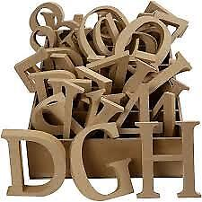 Wooden Letters MDF Freestanding Letters Numbers 8cm