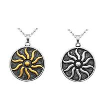 Unisex Amulet Sun-god 316L Stainless Steel Flame Pendant Necklace Jewelry