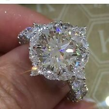 4.9ct Shiny Full White Topaz 925 Silver Ring Men Jewelry Wedding Prom Size 6-10