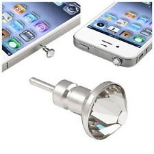 Headset Dust Cap compatible with Apple iPhone / iPod, Clear Diamond B3Z4