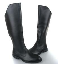 New Mens Zipper Faux Leather Military Knee High Back Casual Riding Combat Boots