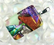Many options - Genuine dichroic glass pendant - smooth