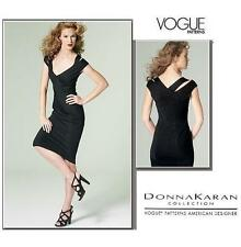VOGUE Sew Pattern 1280 Donna Karan Strappy Pullover Knit Dress BodyCon 4-20