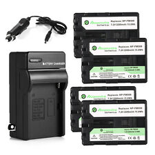 2200mAh NP-FM500H Battery + Charger for Sony Alpha DSLR A100 A200 A300 A900 A700