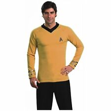 New Rubies Adult Men's Star Trek Classic Captain Halloween Costume Shirt L-XL