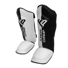 FP Kids Shin Pads Junior Muay Thai MMA Shin Guards Instep Leg Foot Protective