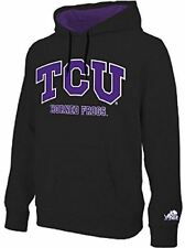 NCAA TCU Horned Frogs Black Embroidered College Classic Hoodie Sweatshirt