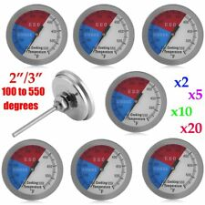 "2""/3"" 550 RWB BBQ CHARCOAL GRILL WOOD SMOKER OVEN PIT TEMP GAUGE THERMOMETER EW"