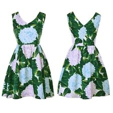 Fasion Printed Sleeveless Womens Floral Skater Dress A-line Casual Party Dresses