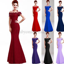 Long Lace Mermaid Evening Gown Prom Bridesmaid Party Dress Formal Cocktail Dress