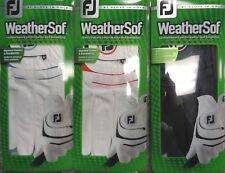 (3) NEW FootJoy WeatherSof Golf Gloves, PICK SIZE, #1 Glove in Golf, ASSORTED