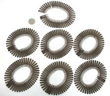 WHOLESALE  LOT OF 12,24,60 COMBS--SOFT BROWN FLEXIBLE CIRCLE HAIR STYLING COMBS