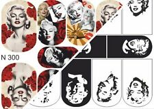 Nail Art Water Transfers Decals Stickers Slider Desing Marilyn Monroe Madonna