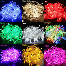 100/200/300/400/600 LED String Fairy Lights Christmas Xmas Party Lamp Colorful